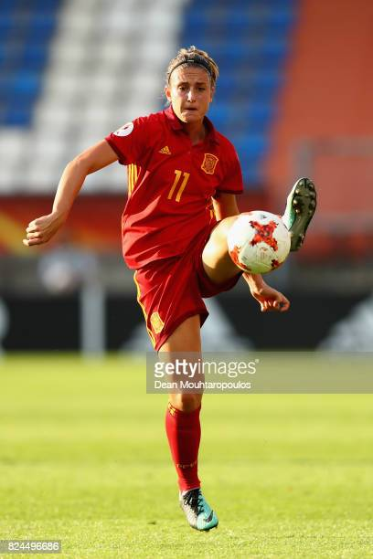 Alexia Putellas of Spain in action during the UEFA Women's Euro 2017 Quarter Final match between Austria and Spain at Koning Willem II Stadium on...