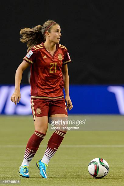 Alexia Putellas of Spain looks to play the ball during the 2015 FIFA Women's World Cup Group E match against Costa Rica at Olympic Stadium on June 9...
