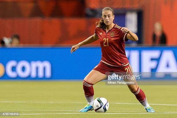 Alexia Putellas of Spain moves the ball during the 2015 FIFA Women's World Cup Group E match against Costa Rica at Olympic Stadium on June 9 2015 in...