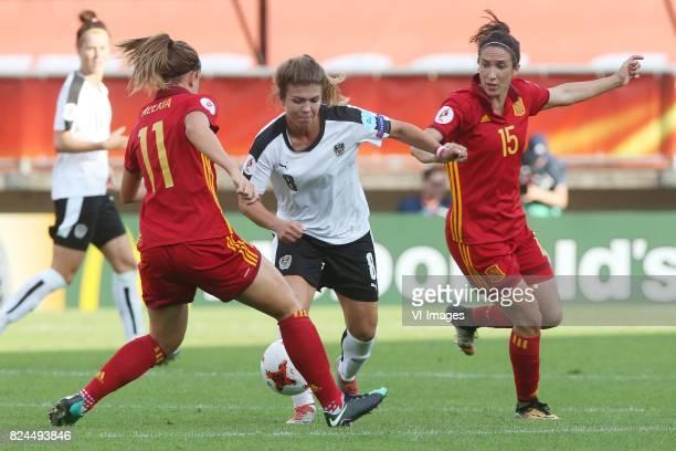 Alexia Putellas of Spain Nadine Prohaska of Austria women Silvia Meseguer of Spain during the UEFA WEURO 2017 quarter finale match between Austria...