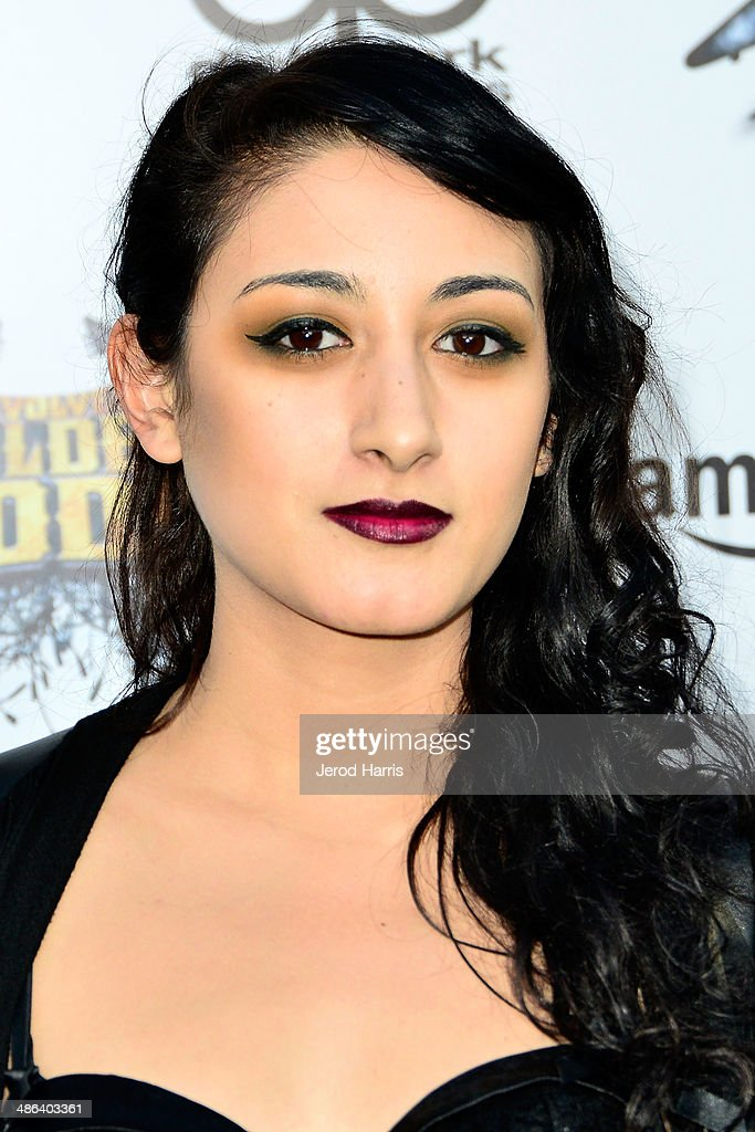 Alexia Rodriguez of 'Eyes Set to Kill' arrives at the 2014 Revolver Golden Gods Awards at Club Nokia on April 23, 2014 in Los Angeles, California.