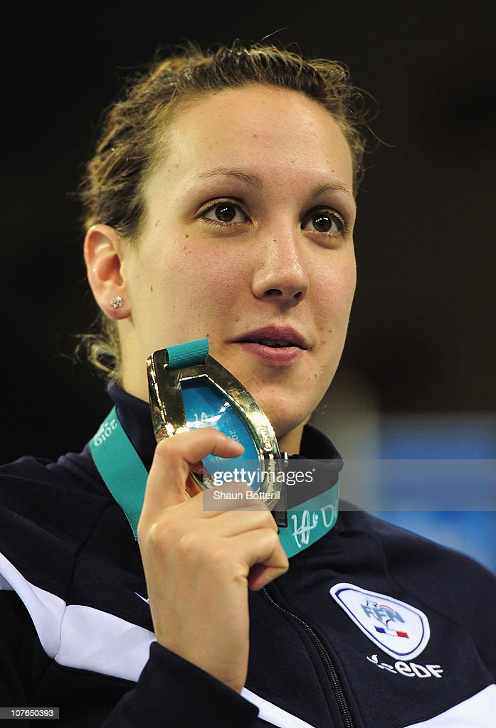 Alexianne Castel of France wins the gold medal in the final of the Women's 200m Backstroke during the 10th FINA World Swimming Championships (25m) at the Hamdan bin Mohammed bin Rashid Sports Complex on December 17, 2010 in Dubai, United Arab Emirates.