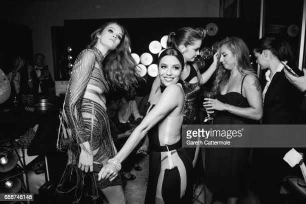 Alexina Graham and Eva Longoria attend L'Oreal Paris Cinema Club party during the 70th Cannes Film Festival at Martinez Hotel on May 24 2017 in...
