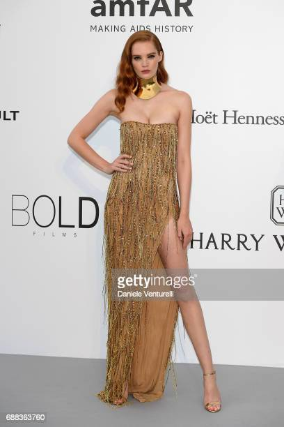 Alexina Graham arrives at the amfAR Gala Cannes 2017 at Hotel du CapEdenRoc on May 25 2017 in Cap d'Antibes France