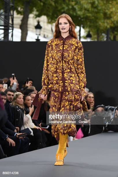 Alexina Graham walks the runway during the Le Defile L'Oreal Paris Spring Summer 2018 show as part of Paris Fashion Week at Avenue des ChampsElysees...