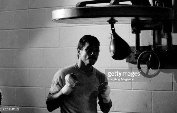 Alexis Arguello training for Claude Noel fight in Atlantic City