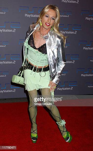 Alexis Arquette during Playstation 2 Offers A Passage Into 'The Underworld' Arrivals at Belasco Theatre in Los Angeles California United States