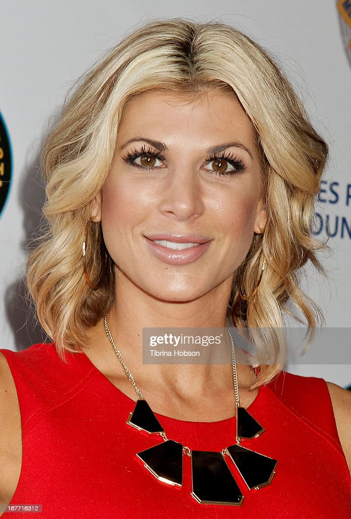 Alexis Bellino attends the Los Angeles Police Memorial Foundation's celebrity poker tournament at Saban Theatre on April 27, 2013 in Beverly Hills, California.