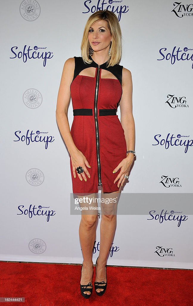 Alexis Bellino attends the Softcup Beauty Retreat with ZING Vodka Cocktails at a private residency on September 20 2012 in Beverly Hills California