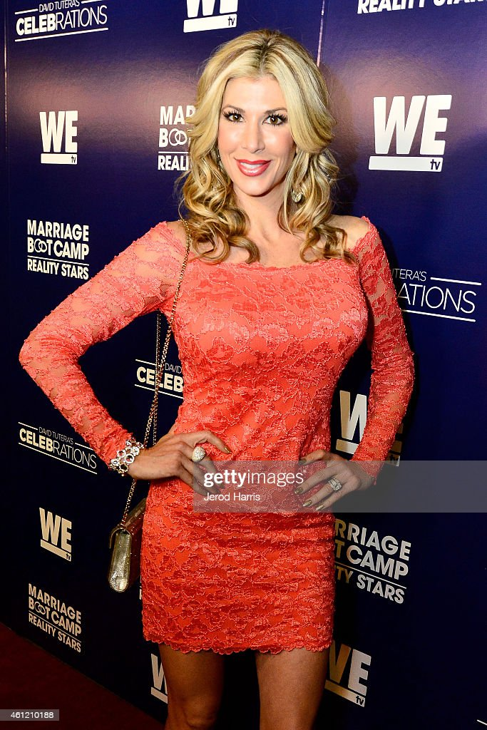 Alexis Bellino attends WE tv's joint premiere party for 'Marriage Boot Camp Reality Stars' and 'David Tutera's CELEBrations' at 1 OAK on January 8...