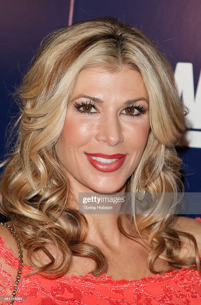 Alexis Bellino attends WE TV's 'Marriage Boot Camp' reality stars 'David Tutera's Celebrations' premiere party at 1 OAK on January 8 2015 in West...