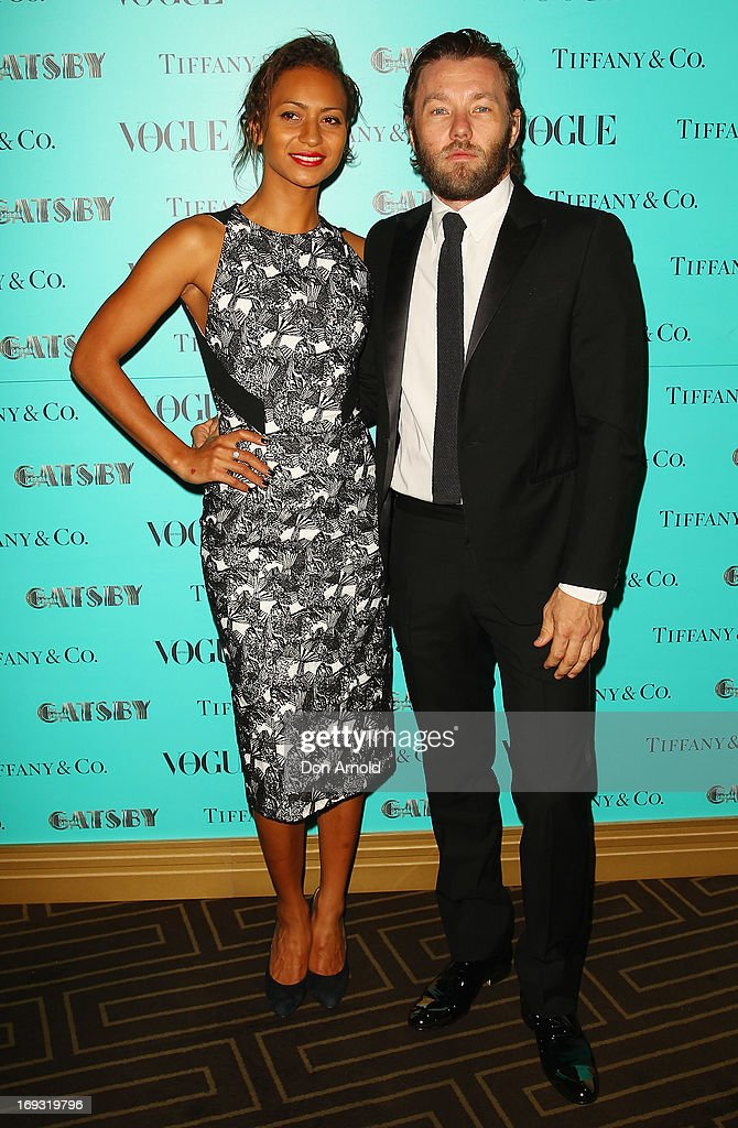 Alexis Blake and <a gi-track='captionPersonalityLinkClicked' href=/galleries/search?phrase=Joel+Edgerton&family=editorial&specificpeople=211291 ng-click='$event.stopPropagation()'>Joel Edgerton</a> arrive at the Tiffany & Co Great Gatsby dinner at Rockpool on May 23, 2013 in Sydney, Australia.