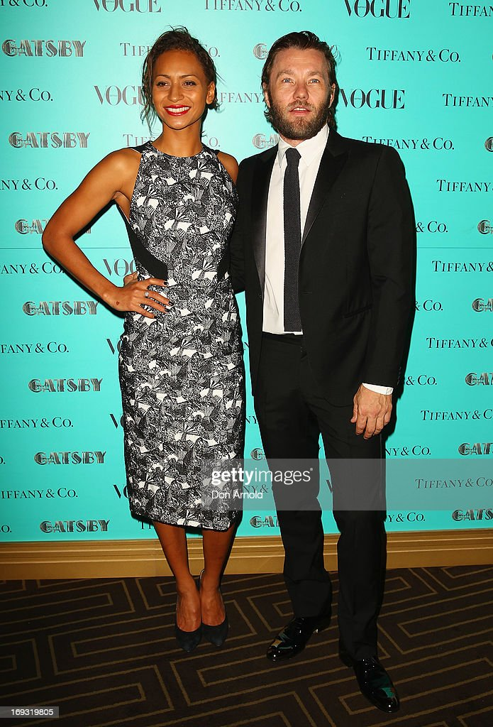 Alexis Blake and Joel Edgerton arrive at the Tiffany & Co Great Gatsby dinner at Rockpool on May 23, 2013 in Sydney, Australia.