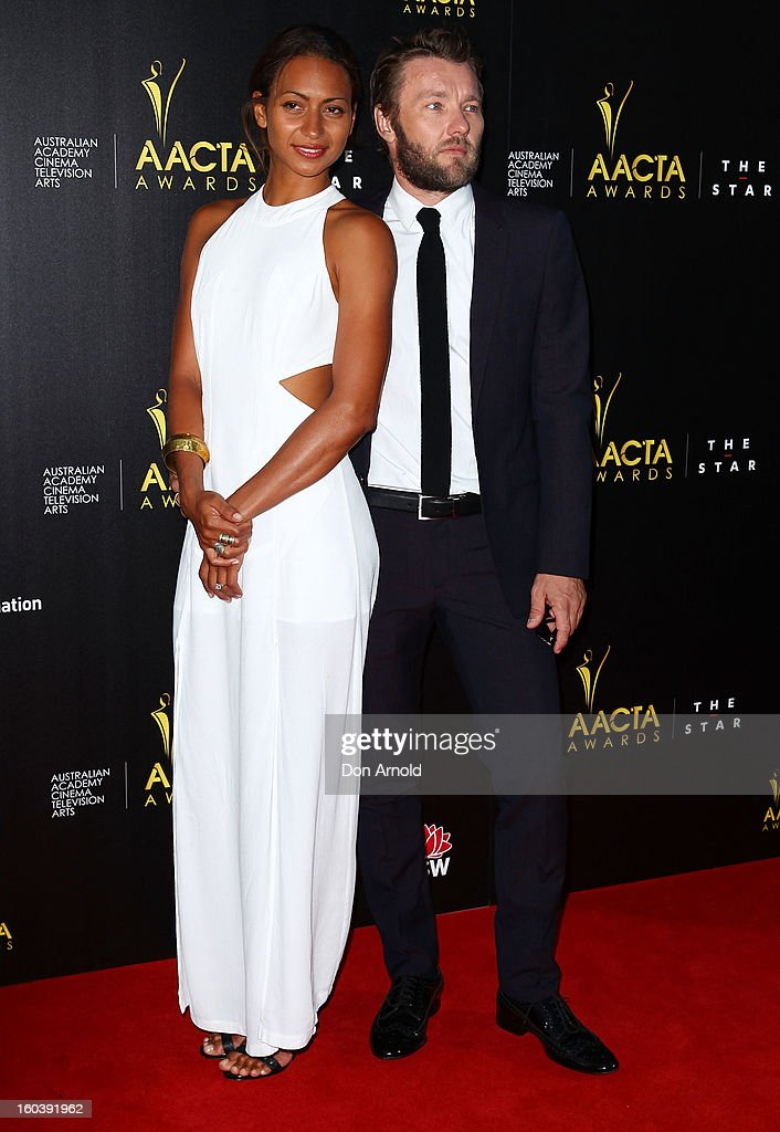 Alexis Blake and Joel Edgerton arrive for the 2nd Annual AACTA Awards at The Star on January 30, 2013 in Sydney, Australia.