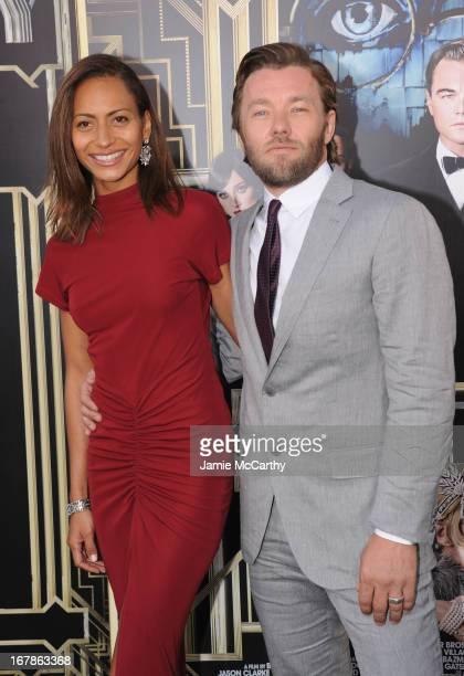 Alexis Blake and Joel Edgerton attend the 'The Great Gatsby' world premiere at Avery Fisher Hall at Lincoln Center for the Performing Arts on May 1...