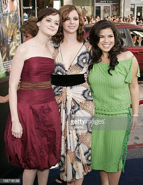 Alexis Bledel Amber Tamblyn and America Ferrera during 'The Sisterhood of the Traveling Pants' Los Angeles Premiere at Grauman's Chinese Theatre in...