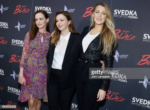 Alexis Bledel Amber Tamblyn and Blake Lively attend 'Paint It Black' New York premiere at the Museum of Modern Art on May 15 2017 in New York City