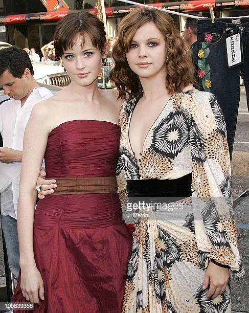 Alexis Bledel and Amber Tamblyn during 'The Sisterhood of the Traveling Pants' Los Angeles Premiere at Grauman's Chinese Theatre in Hollywood...