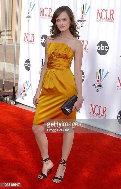 Alexis Bledel during 2006 NCLR ALMA Awards Arrivals at Shrine Auditorium in Los Angeles California United States