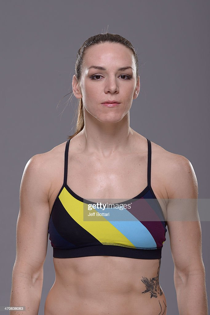 Alexis Davis poses for a portrait during a UFC photo session on February 20 2014 in Las Vegas Nevada