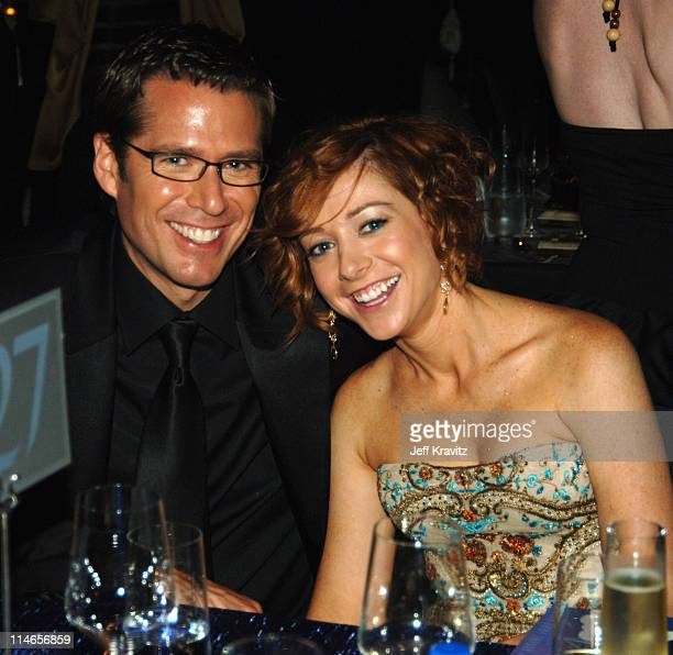 Alexis Denisof and Alyson Hannigan during 57th Annual Primetime Emmy Awards Governors Ball at The Shrine in Los Angeles California United States