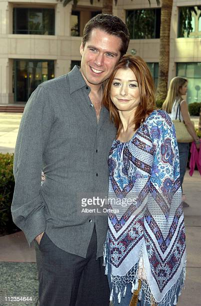 Alexis Denisof and Alyson Hannigan during ATAS Presents Behind the Scenes of 'Buffy the Vampire Slayer' at ATAS Leonard Goldenson Theater in North...