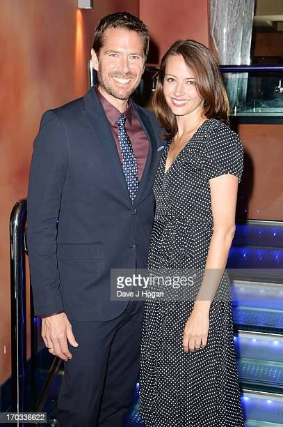 Alexis Denisof and Amy Acker attend a gala screening of 'Much Ado About Nothing' at The Apollo Piccadilly on June 11 2013 in London England