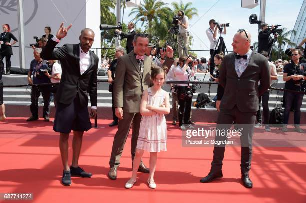 Alexis Ducord Arthur De Pins Mat Bastard and Esther CorvezBeaudoin attend the 'Rodin' screening during the 70th annual Cannes Film Festival at Palais...