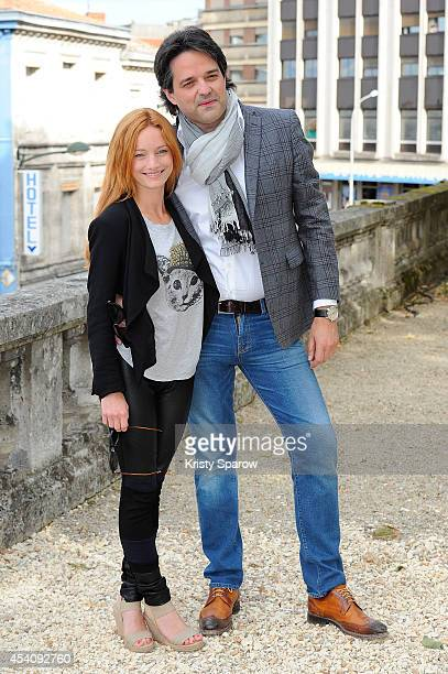 Alexis Durand Brault and Laurence Leboeuf attend the 'La Petite Reine' Photocall at Hotel Mercure during the 7th Angouleme FrenchSpeaking Film...