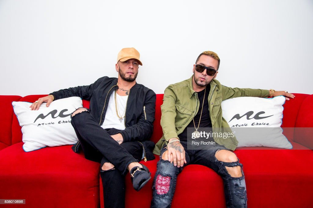 Alexis & Fido Visit Music Choice on August 23, 2017 in New York City.