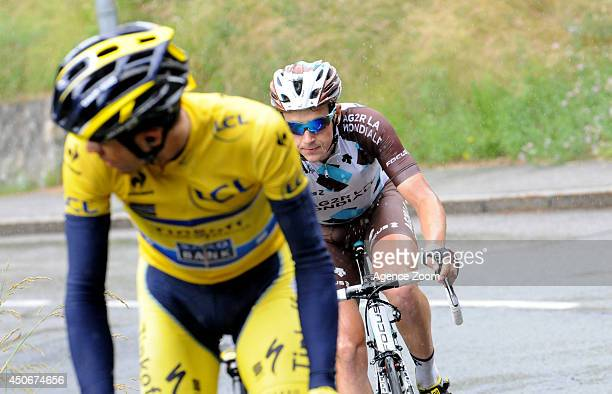 Alexis Gougeard of Team AG2R La Mondiale during Stage Eight of the Criterium du Dauphine on Sunday 15 June 2014 Megeve to Courchevel France