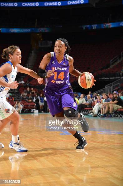 Alexis Hornbuckle of the Phoenix Mercury drives against the New York Liberty on September 5 2012 at the Prudential Center in Newark New Jersey NOTE...