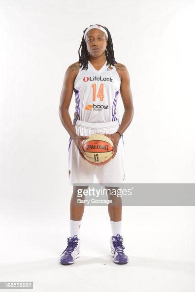Alexis Hornbuckle of the Phoenix Mercury poses for a photo during 2013 Phoenix Mercury Media Day on May 10 2013 at US Airways Center in Phoenix...