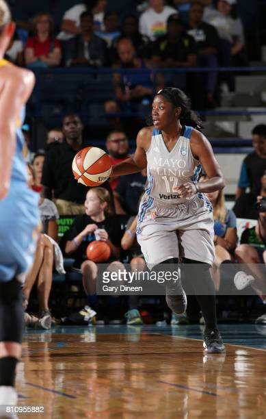 Alexis Jones of the Minnesota Lynx handles the ball against the Minnesota Lynx on July 8 2017 at Allstate Arena in Rosemont IL NOTE TO USER User...