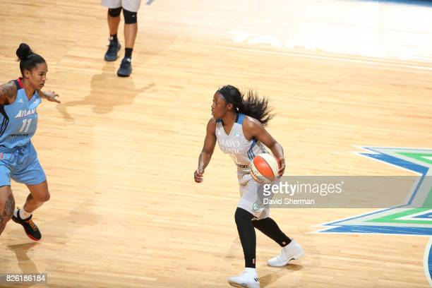 Alexis Jones of the Minnesota Lynx handles the ball against the Atlanta Dream on August 3 2017 at Xcel Energy Center in St Paul Minnesota NOTE TO...