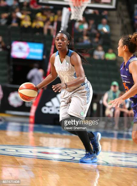 Alexis Jones of the Minnesota Lynx handles the ball against the Phoenix Mercury on August 22 2017 at Xcel Energy Center in St Paul Minnesota NOTE TO...
