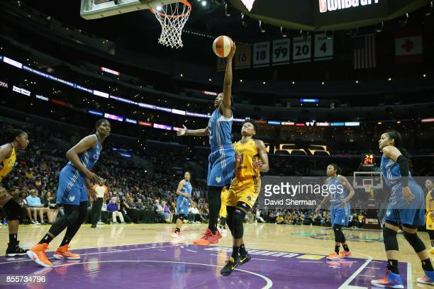 Alexis Jones of the Minnesota Lynx shoots the ball against the Los Angeles Sparks in Game Three of the 2017 WNBA Finals on September 29 2017 at the...