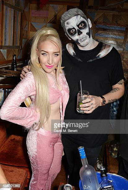 Alexis Knox and Professor Green attend 'Death Of A Geisha' hosted by Fran Cutler and Cafe KaiZen with Grey Goose on October 31 2014 in London England