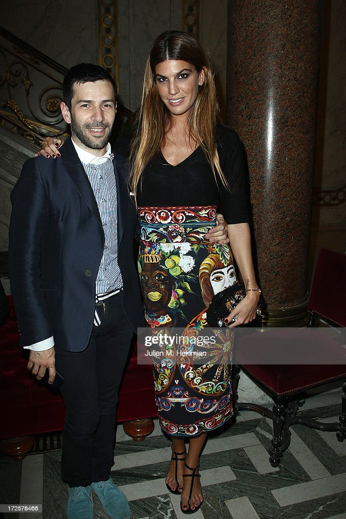 Alexis Mabille and Bianca Brandolini attend the Founder And CEO Alessandro Savelli And Contemporary Style Icon Julia Restoin Roitfeld Launch SAVELLI The World's First Luxury Smart Phone Especially For Women During Haute Couture Week at Musee Jacquemart-Andre on July 3, 2013 in Paris, France.