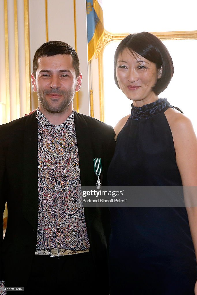 French Minister of Culture Fleur Pellerin Gives Decorations To French Designer Alexis Mabille In Paris