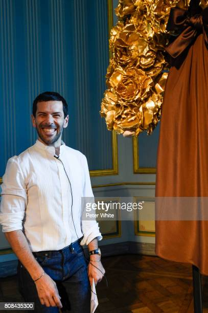 Alexis Mabille poses during the Alexis Mabille Haute Couture Fall/Winter 20172018 Presentation as part of Haute Couture Paris Fashion Week on July 4...
