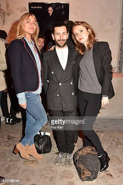 Alexis MabilleÊ TV presenters Justine Fraioli and Sophie Brafman attend the Les Etoiles MercedesBenz Cocktail Paris Fashion Week Womenswear...