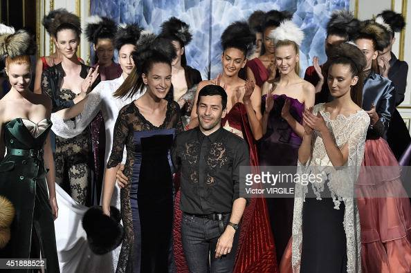 Alexis Mabille walks the runway during the Alexis Mabille show as part of Paris Fashion Week Haute Couture Fall/Winter 20142015 at on July 7 2014 in...