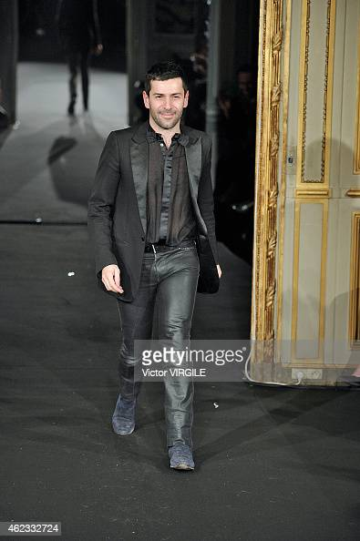 Alexis Mabille walks the runway during the Alexis Mabille show as part of Paris Fashion Week Haute Couture Spring/Summer 2015 on January 26 2015 in...