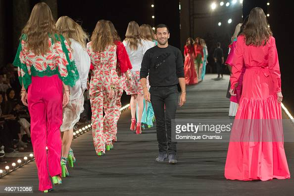 Alexis Mabille walks the runway during the Alexis Mabille show as part of the Paris Fashion Week Womenswear Spring/Summer 2016 on September 30 2015...