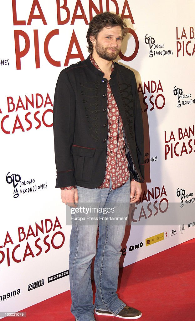 Alexis Michalik attends 'La Banda Picasso' premiere on January 24, 2013 in Madrid, Spain.