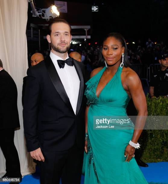 Alexis Ohanian and Serena Williams at 'Rei Kawakubo/Comme des GarçonsArt of the InBetween' Costume Institute Gala at Metropolitan Museum of Art on...