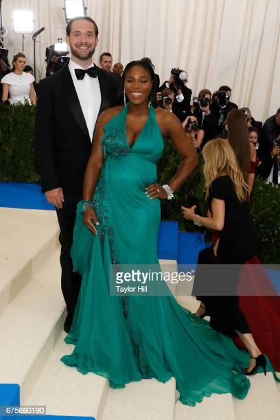 Alexis Ohanian and Serena Williams attend 'Rei Kawakubo/Commes Des Garcons Art of the InBetween' at Metropolitan Museum of Art on May 1 2017 in New...