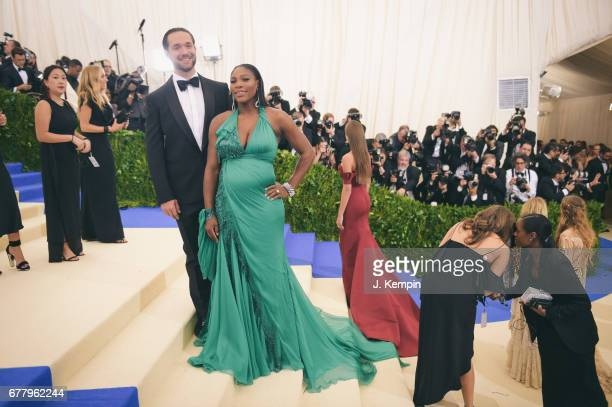Alexis Ohanian and Serena Williams attend the quotRei Kawakubo/Comme des Garcons Art Of The InBetweenquot Costume Institute Gala at Metropolitan...