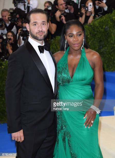 Alexis Ohanian and Serena Williams attend the 'Rei Kawakubo/Comme des Garcons Art Of The InBetween' Costume Institute Gala at the Metropolitan Museum...